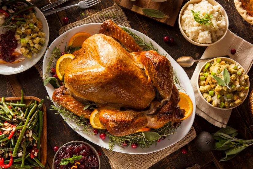 Dinde de Thanksgiving maison entière