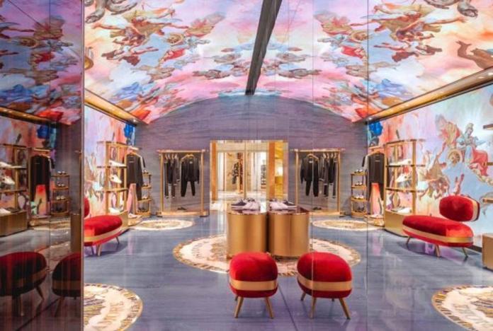 Interiors at Dolce & Gabbana Rome