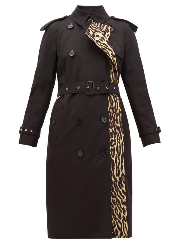 Bridstow Leopard-Print Cotton Trench Coat by Burberry