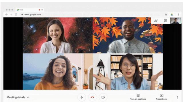 Custom Google Meet Image