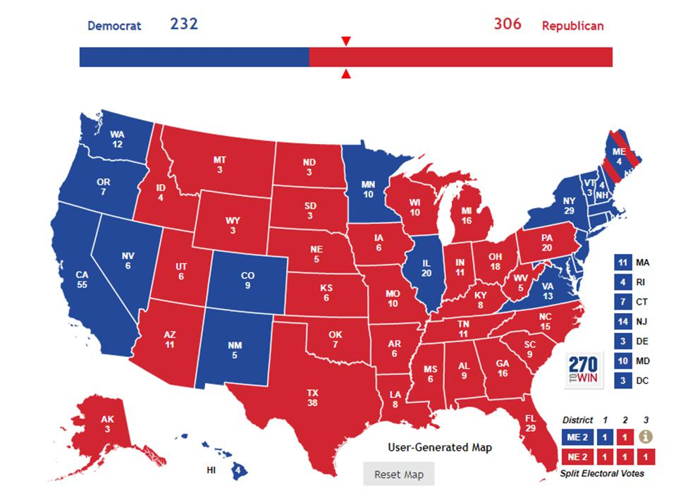 While Hillary Clinton won the popular vote, Donald Trump won the Electoral College.