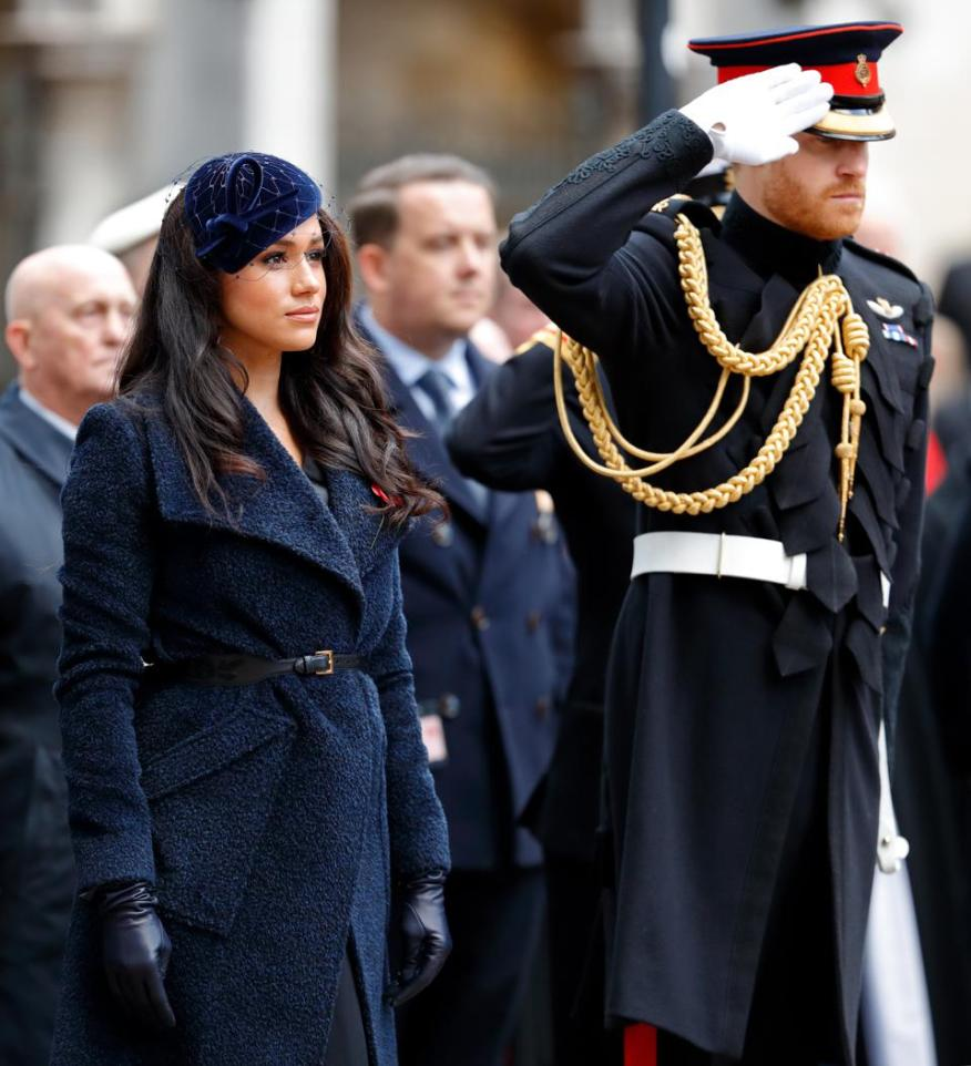 Los miembros de la familia real asisten al 91o campo del recuerdo en la Abadía de Westminster