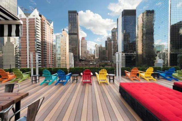 Rooftop of New York City Hotel