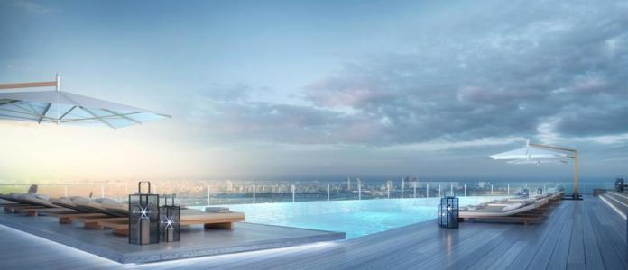 Aston Martin Residences, luxury condo, real estate, Miami, Signature Apartments, pool deck