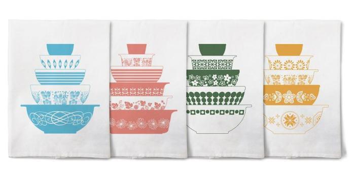 Vintage Pyrex Tea towels