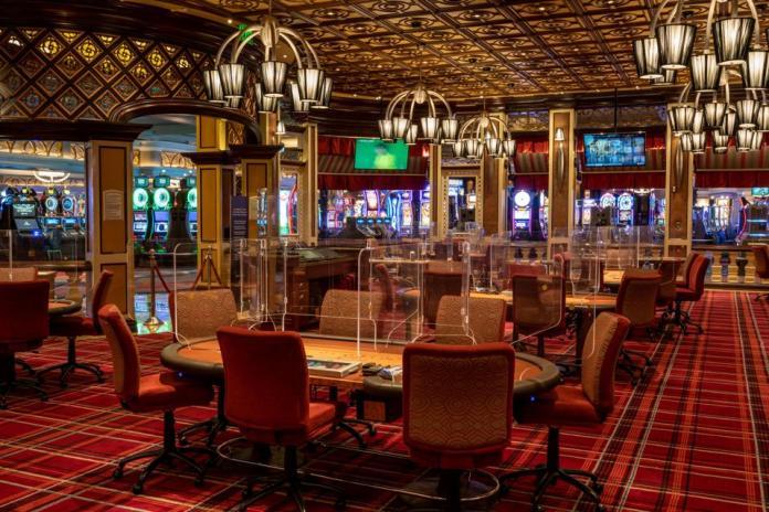 Poker room for Bellagio casino