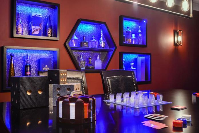 Residential poker room
