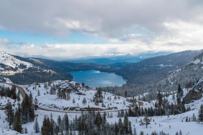 The Donner lake, California