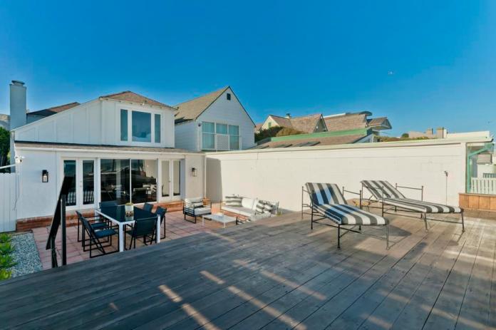 A Malibu beach house.