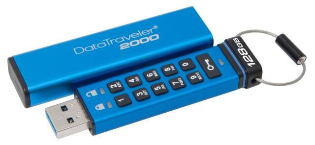 Kingston DT2000 USB drive with keypad