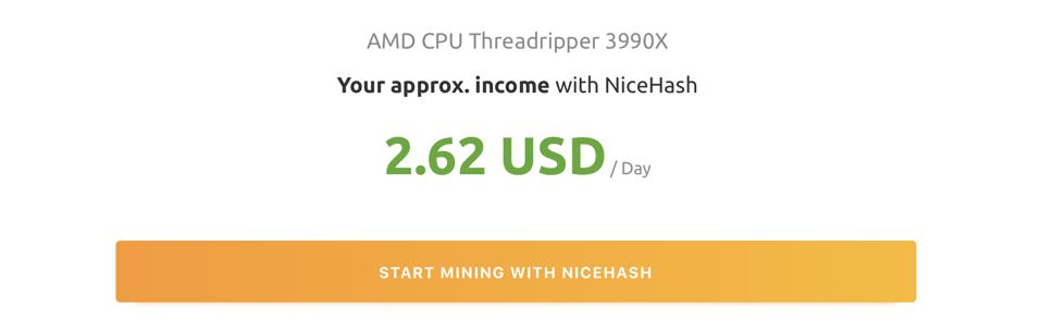Even a beefy Ryzen Threadripper CPU has the potential to turn a profit.
