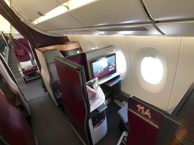Qatar Airways single Qsuite