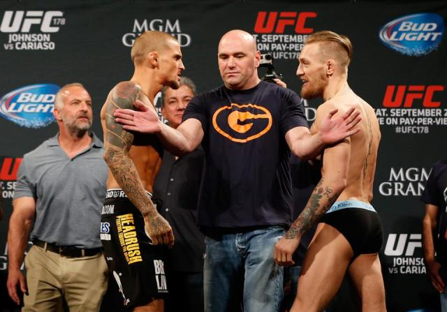 Conor McGregor and Dustin Poirier meet in the main event of Saturday's UFC 257 pay-per-view card