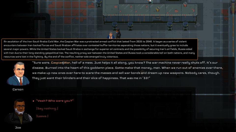 Disjunction conversation screenshot on Xbox Series X