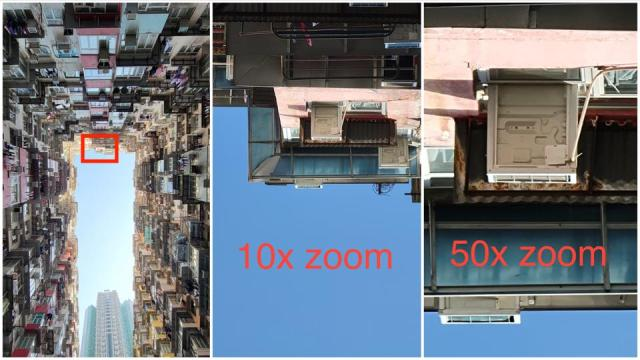 10x and 50x zoom shots with the S21 Ultra