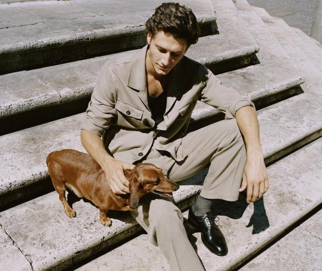 Silk trousers and blouson from Brioni Spring Summer '21