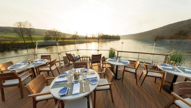 On the Aquavit Terrace aboard a Viking Cruises' longship in Europe.