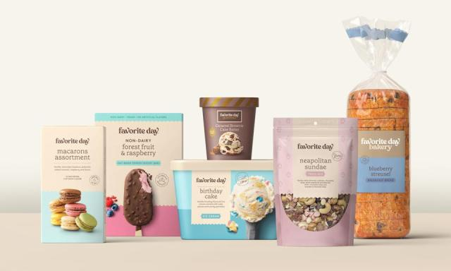 Items from Favorite Day, Target's new brand of indulgent treats and other foods.