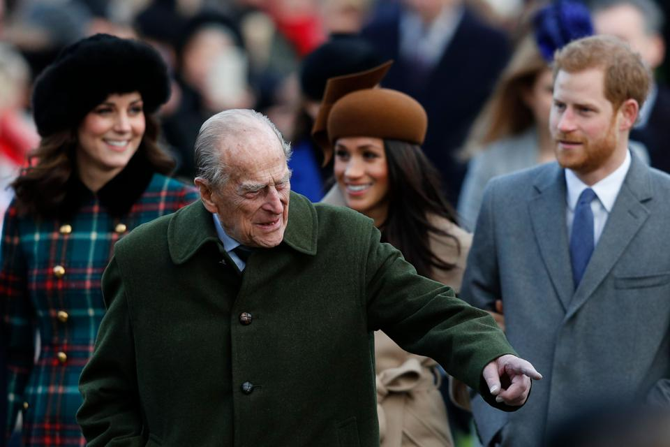 BRITAIN-ROYALS-CHRISTMAS day service in Sandringham 2017