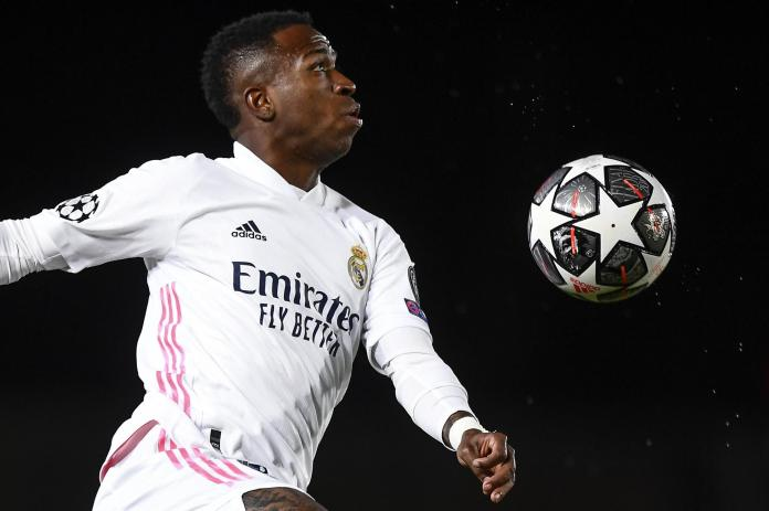 Vinicius Junior of Real Madrid CD in action during the UEFA