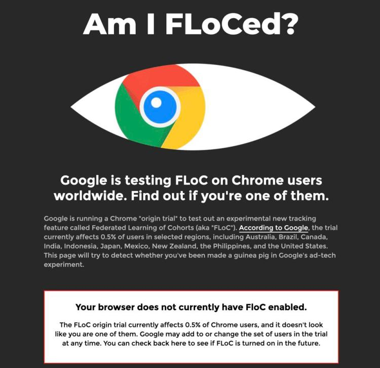 FLoC Test for Chrome