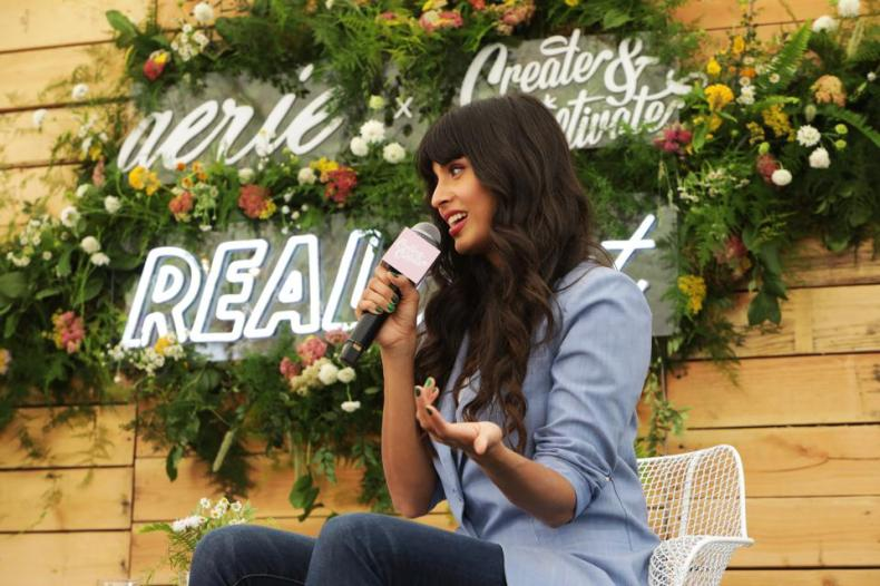 Jameela Jamil speaks onstage at Aerie REALTreat in Collaboration with Create & Cultivate