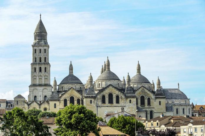 The Roman Catholic cathedral in Perigueux, in the Perigord region of France.