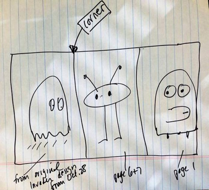 invader art hand drawn schematic draft todd piccus venice beach