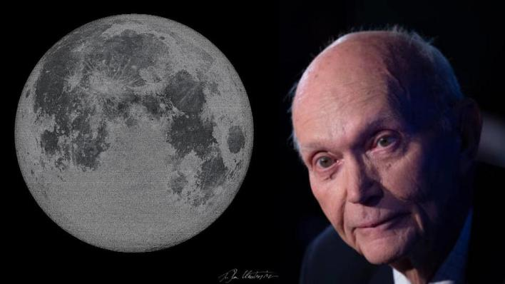 Michael Collins, Apollo 11 crewmember and 'loneliest human' ever, with lunar tribute.