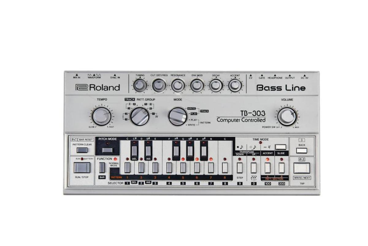A Roland TB-303 Bass Line synthesizer
