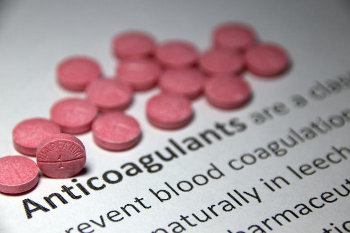 The anticoagulant warfarin, coumadin, prevents blood clots from forming. Treats blows
