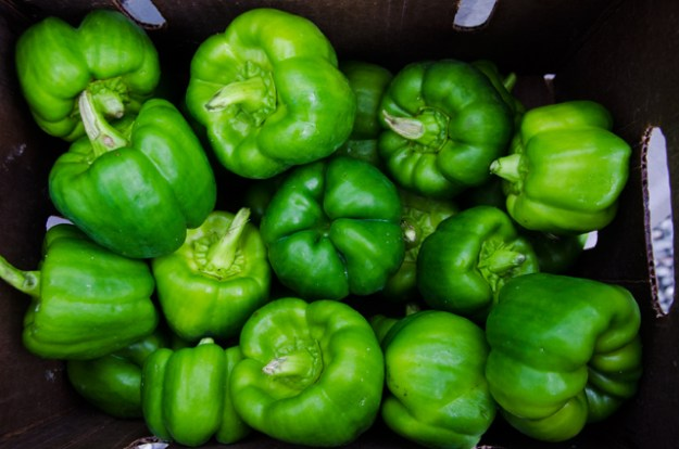 Sweet Green Bell Peppers