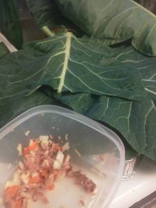 collard greens roll prep