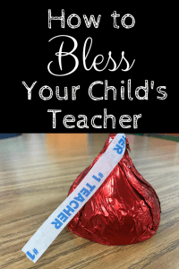 How to Bless Your Child's Teacher