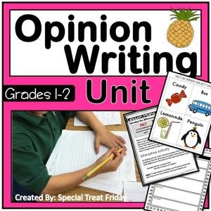 1st Grade Opinion Writing