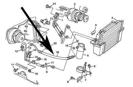 Air Conditioning,Accumulator Hose,C4 Corvette,1985-87,5.7L