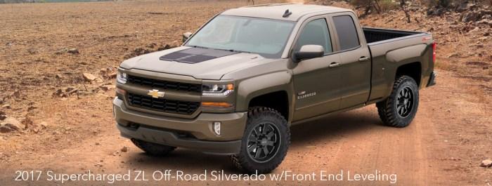 2017 Silverado ZL Off-Road Leveled