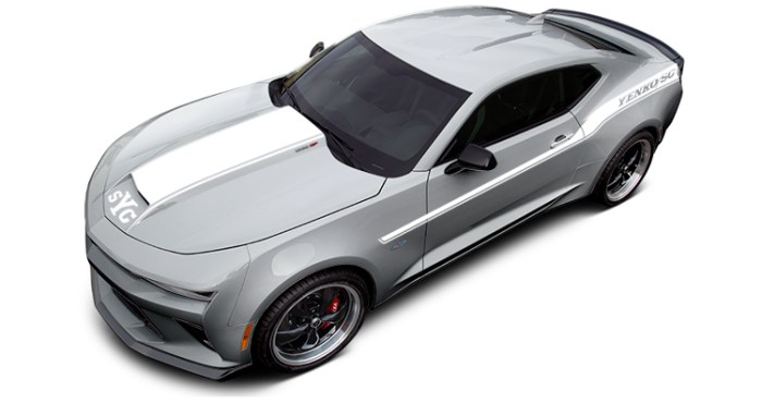 2018 Yenko Camaro Silver Ice Metallic with White Stripes