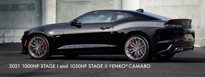 2021 1050HP Stage II And 1000HP Stage I Yenko Camaro