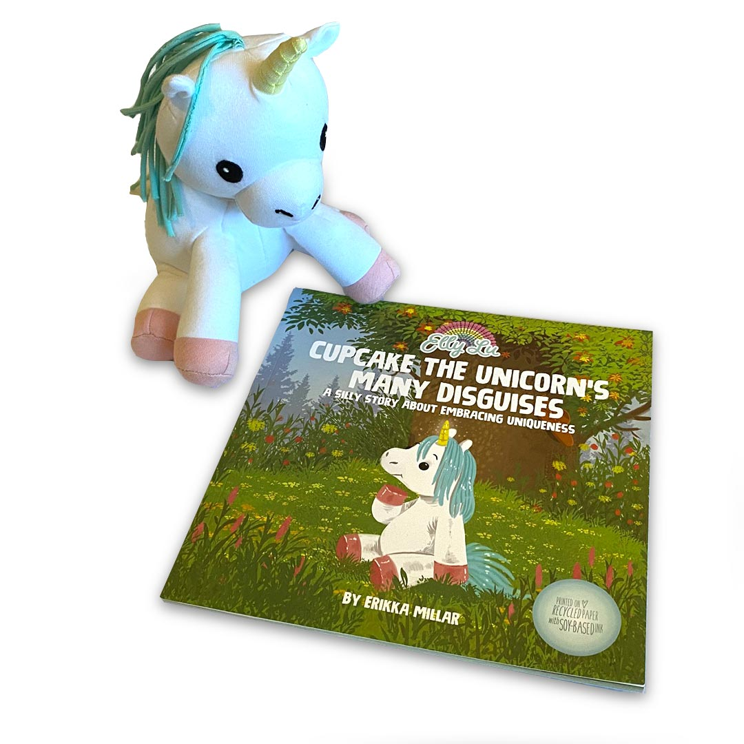 Cupcake the Unicorn's Many Disguises – Plush and Book Gift Set