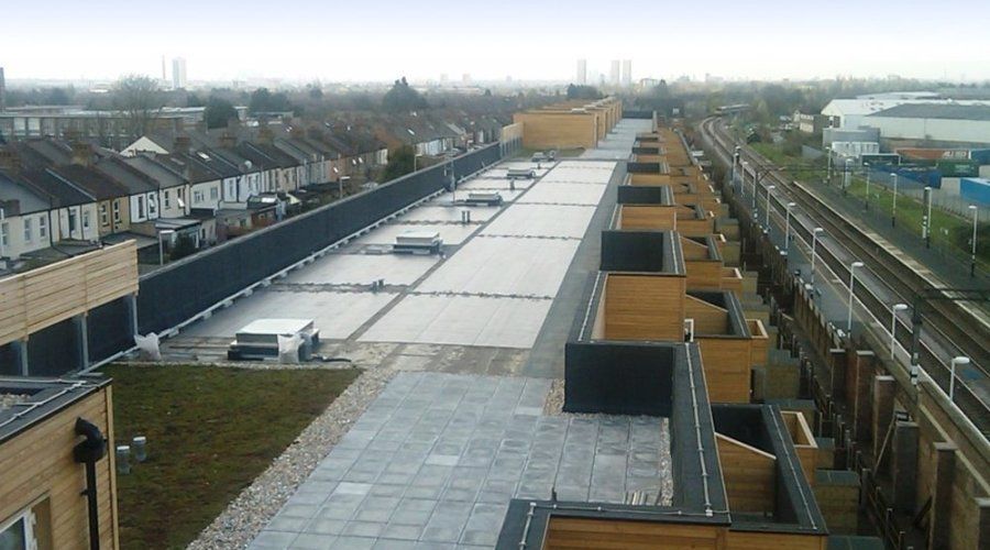 Axter's fully integrated photovoltaic roof membranes generate 17,600 kWh renewable electricity per year