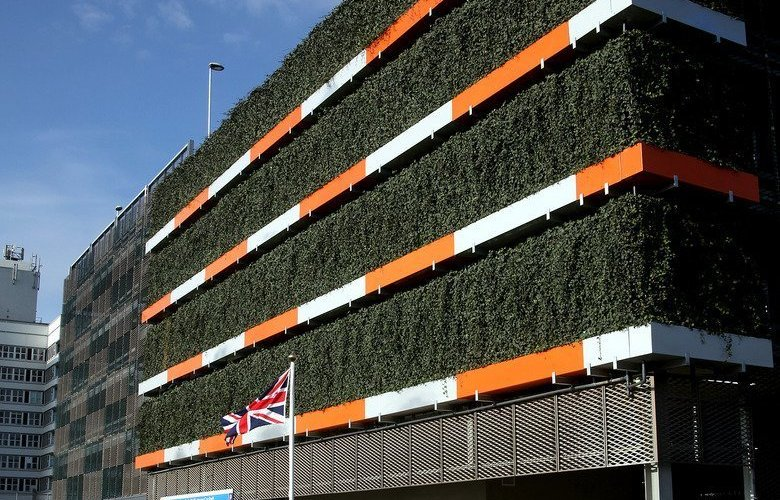 £8Million hospital car park sports stunning living wall
