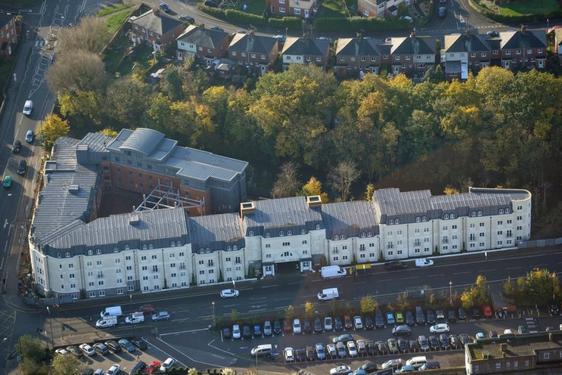 Sika Sarnafil lead-look roof blends in with historic town's architecture