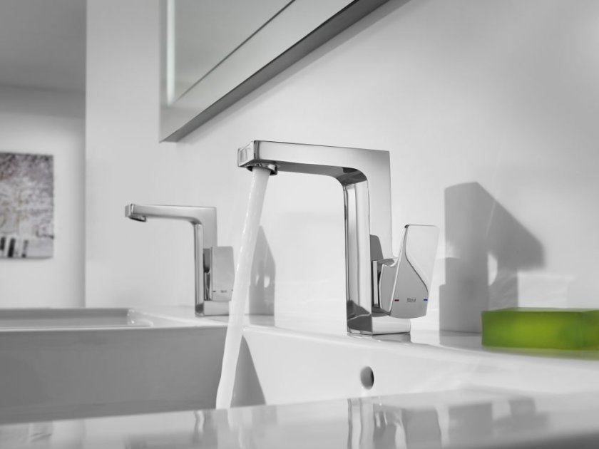 Roca's L20 and L90 basin taps have water-saving built-in, whilst a Cold Start function also prevents unnecessary energy consumption by only firing up the heating system when the handle is turned to hot