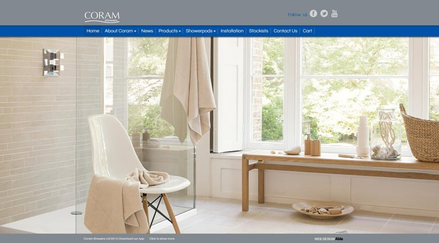 'Out now on a screen near you' Coram Showers launch NEW Website
