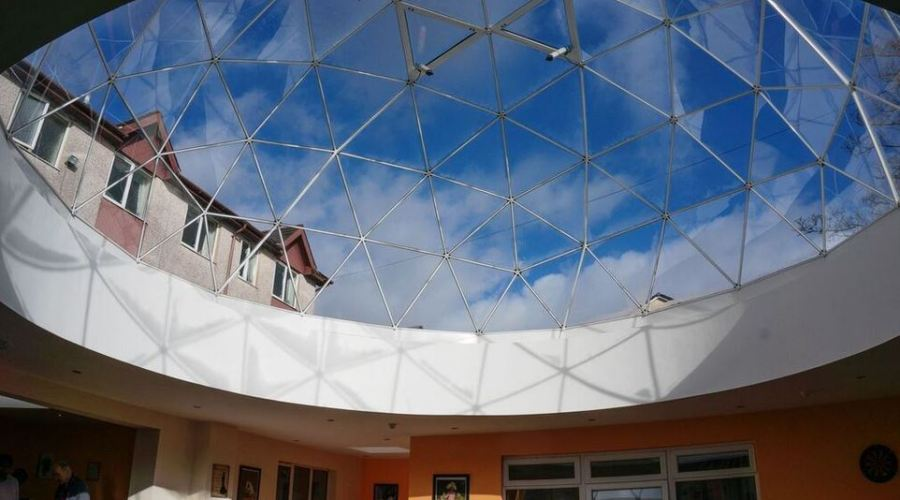 Dome skylight transforms care home