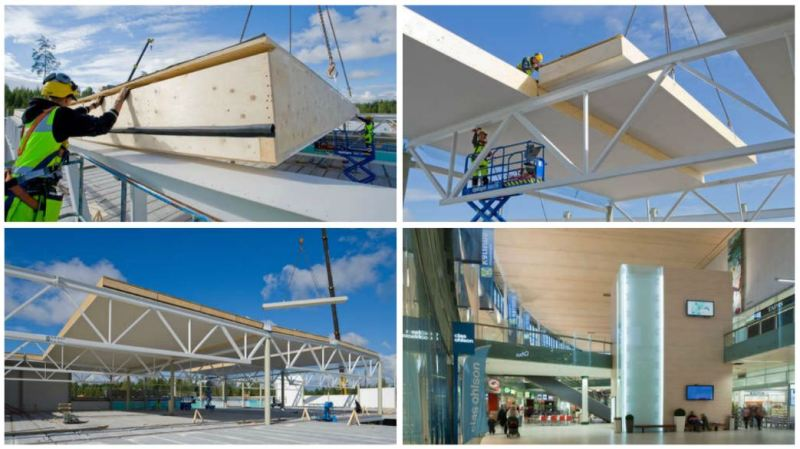 Kerto-Ripa roof elements for the Karisma shopping centre