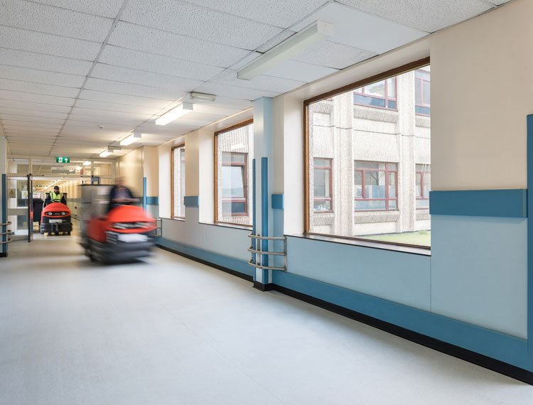 Altro's first adhesive-free flooring for low slip risk areas is tough time-saving solution at Warrington Hospital