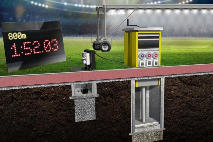 Pop Up Power Supplies® provide outdoor power solutions for modern sports stadiums