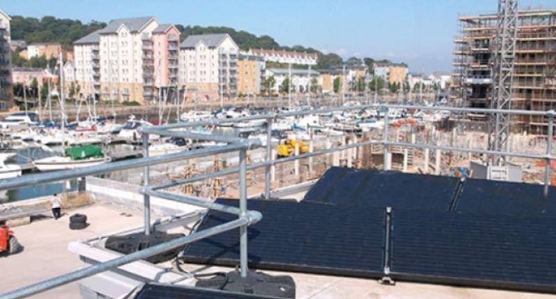 Edge protection around solar panels